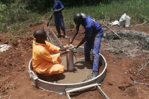 The Water Project: Kinuma Kyarugude Community -  Installation Of The Well