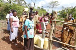 The Water Project: Kinuma Kyarugude Community -  People Collect Water