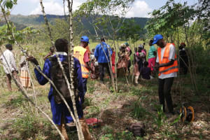 The Water Project: Kinuma Kyarugude Community -  Community Participation During The Hydrogeological Survey