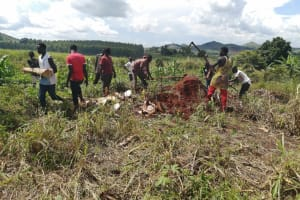 The Water Project: Kaitabahuma I Community -  Digging At The Well Site