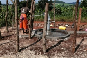 The Water Project: Kaitabahuma I Community -  Fetching Water At The New Well