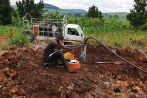 The Water Project: Kaitabahuma I Community -  Testing Pump And Recovery Of Well