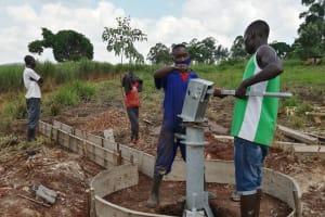 The Water Project: Kaitabahuma I Community -  Testing The Pump