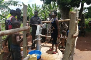 The Water Project: Kabo Village -  At The Rehabilitated Well