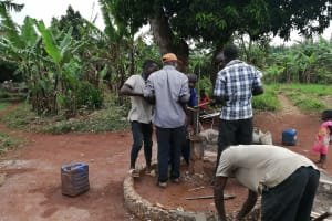 The Water Project: Kabo Village -  Installing New Well Parts