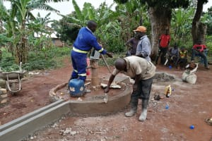 The Water Project: Kabo Village -  Pump Installation