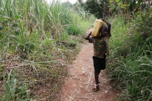 The Water Project: Marongo-Kahembe Community -  Children Carrying Water