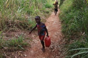The Water Project: Marongo-Kahembe Community -  Children Carrying Water Home