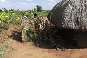 The Water Project: Nsamya Nusaff II Well -  Bathing Shelter