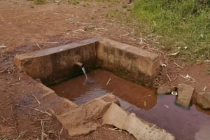 The Water Project: Nsamya Nusaff II Well -  Child Walking To The Spring