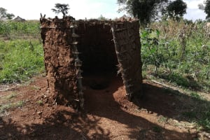 The Water Project: Nsamya Nusaff II Well -  Latrine
