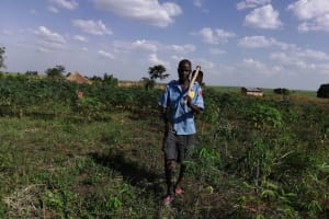 The Water Project: Nsamya Nusaff II Well -  At The Farm