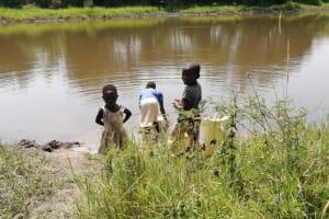 The Water Project: Rwenziramire Community -  Children Fetch Water