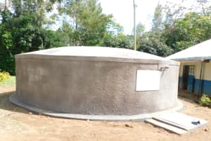 The Water Project: Eshimuli Primary School -  Completed Rain Tank