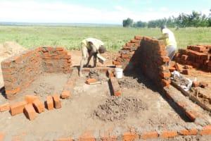 The Water Project: Eshimuli Primary School -  Latrine Brickwork