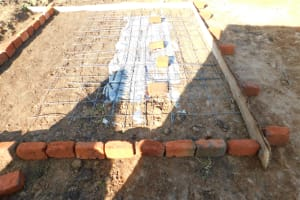 The Water Project: Eshimuli Primary School -  Latrine Pad Construction