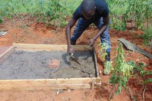 The Water Project: Machemo Community, Boaz Mukulo Spring -  Sanplat Construction