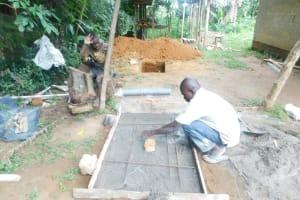 The Water Project: Shianda Township Community, Olingo Spring -  Casting A Sanitation Platform