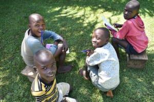 The Water Project: Shianda Township Community, Olingo Spring -  Kids At Training