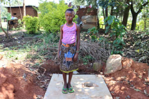 The Water Project: Shihome Community, Peter Majoni Spring -  Posing On A New Sanitation Platform
