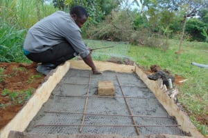 The Water Project: Kimang'eti Community, Kimang'eti Spring -  Sanplat Construction