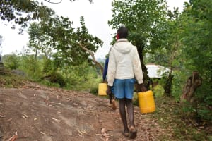 The Water Project: Gimomoi Primary School -  Pupils Going To Fetch Water