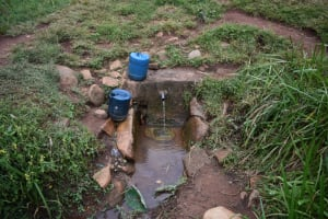 The Water Project: Gimomoi Primary School -  Spring Where Students Fetch Water