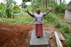 The Water Project: Machemo Community, Boaz Mukulo Spring -  Naomi Rhoda Appreciating The New Sanplat