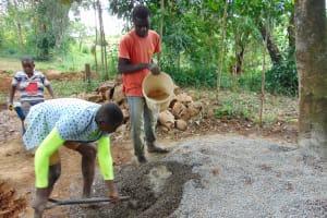 The Water Project: Kimang'eti Community, Kimang'eti Spring -  Mixing Concrete