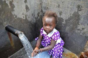 The Water Project: Mukhungula Community, Mulongo Spring -  Enjoying The Spring Water