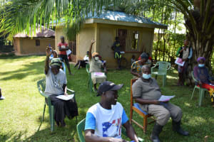 The Water Project: Shianda Township Community, Olingo Spring -  The Participants Made Training Lively And Fun