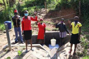 The Water Project: Mukhungula Community, Mulongo Spring -  Community Members At The Spring