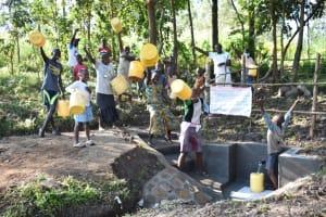 The Water Project: Shianda Township Community, Olingo Spring -  Celebrations At Olingo Spring
