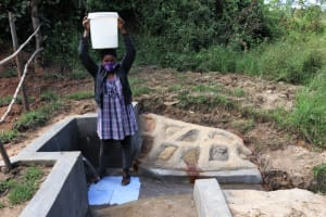 The Water Project: Mukhungula Community, Mulongo Spring -  Ready To Take Clean Water Home
