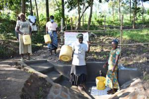The Water Project: Shianda Township Community, Olingo Spring -  Happy Day