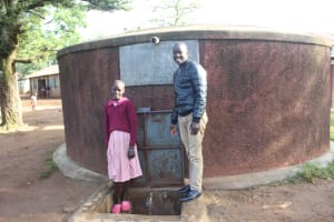 The Water Project: Irobo Primary School -  Jescah And Field Officer Erick