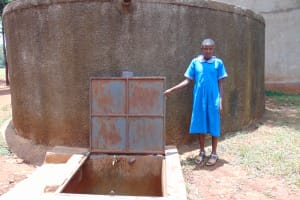 The Water Project: Kegoye Primary School -  Vallary At The Rain Tank