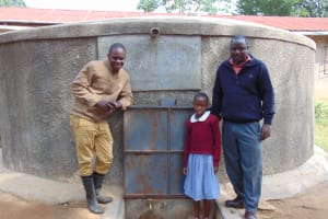 The Water Project:  Beatrice With Field Officer Sam And Teacher Wycliffe Khamali