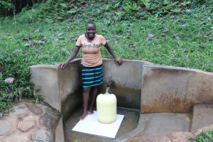 The Water Project: Ilala Community, Arnold Johnny Spring -  Brillian Fetching Water