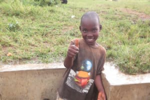 The Water Project: Mukhuyu Community, Kwakhalakayi Spring -  Timothy Excited About Having Water