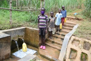The Water Project: Ewamakhumbi Community, Mukungu Spring -  Jeremiah And Other Kids At The Spring