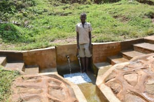 The Water Project: Munenga Community, Francis Were Spring -  Felix At The Spring