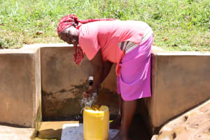 The Water Project: Ebutindi Community, Tondolo Spring -  Milcah Okisa Spring Landowner