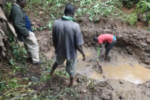 The Water Project: Shihome Community, Peter Majoni Spring -  Foundation Excavation