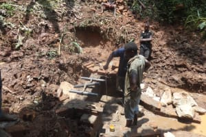 The Water Project: Shihome Community, Peter Majoni Spring -  Pipe Measurements