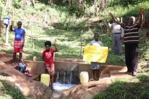 The Water Project: Shihome Community, Peter Majoni Spring -  Appreciating The Donors