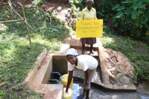 The Water Project: Shihome Community, Peter Majoni Spring -  Fetching Water Made Easy