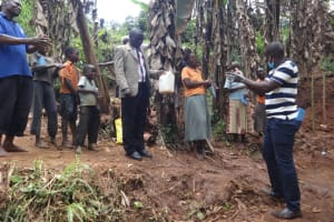 The Water Project: Shihome Community, Peter Majoni Spring -  Following Handwashing Steps