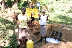 The Water Project: Shihome Community, Peter Majoni Spring -  Thank You