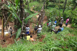 The Water Project: Shihome Community, Peter Majoni Spring -  Training At The Spring Site